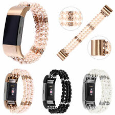 Stretch Bead Watch Band Replacement Strap Wristband Bracelet For Fitbit CHARGE 2