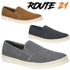 Route 21 'Sidewalk' Men's Urban Casual Loafers Synth. Suede Twin Gusset Shoes
