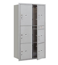 Salsbury Industries Recessed Private Aluminum 7 Unit 4C Horizontal Parcel Locker
