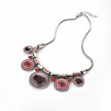Fashion Boho Colorful Crystal Statement Pendant Necklace Women Jewelry Gift New