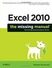 Excel 2010: The Missing Manual by Matthew MacDonald Paperback Book The Cheap