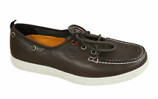 Timberland Mens Leather Lace Up Boat Loafer Slip On Dark Brown Shoes 42554 D35