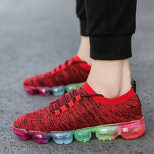 Men's Air Cushion Running Shoes Breathable Sports Athletic Flyknit Sneakers