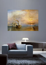 'The Fighting Temeraire' by J.M.W. Turner Graphic Art Print Poster