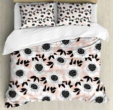 Flower Elegance Floral Pattern with Cute Florets Graphic Duvet Cover Set