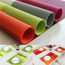 1Pcs PVC Waterproof Placemats Insulation Mat Table Coasters Kitchen Dining Table