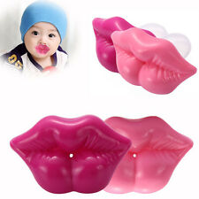 Funny Cute Baby Kids Kiss Silicone Infant Pacifier Nipples Dummy Lips Pacif Ze