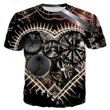 3D T-Shirt Print Punk Clothing Mechanical Casual Tee Short Sleeve Women Men Tops