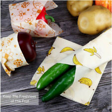 Beeswax Wrap Cloth Preservation Fabric Biodegradable Reusable Food Wrapping 3Pcs