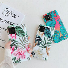 Elegant Floral Leaf Soft Phone Covers For iPhone 11 PRO XS MAX 7 8 6S Plus Cases