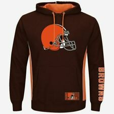 Cleveland Browns Pullover Hoodie Passing Game Brown Plus Sizes Double Logos NFL