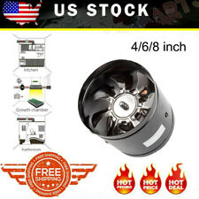 """4"""" 6""""8' Inline Duct Booster Inline Blower Fan Exhaust Air Ducting Cooling Vent"""