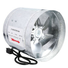 """4"""" 6"""" 8""""Inch Duct Booster Inline Blower Fan 420 CFM Exhaust Ducting Cooling Vent"""