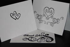 50 Wedding Invitations Thank You Cards WHITE or IVORY