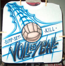 VOLLEYBALL Airbrushed T-shirt Personalized All Sizes