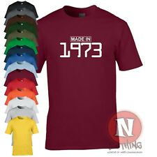 MADE IN 1973 birthday celebration funny party T-shirt