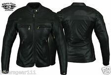 NEW  WOMENS STURGIS MOTORCYCLE BIKER LEATHER JACKET CE REMOVABLE ARMOUR & LINER