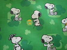 ST PATRICKS ST PATTY'S CLOVER LEPRECHAUN COTTON FABRIC
