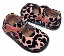 Squeaky Shoes Pink Cow Print Animal Mary Jane