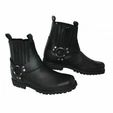 NEW REB STYLE MOTORCYCLE SHORT LEATHER HARNESS BOOTS VERY COMFY BOOTS