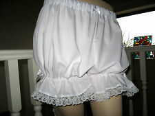 New Goth Lolita Rock White Lace Sissy Short Bloomers Pantaloons Knickers Party