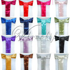 One Satin Chair Cover Sash Bow 15cm*275cm Wedding Party Colors Decorations