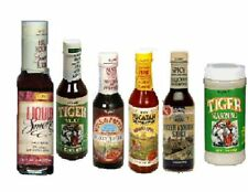 2 TryMe Tiger Sauce & Seasonings:Habanero, Oyster, MORE