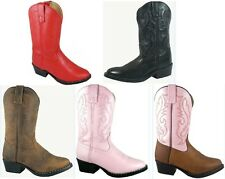 NEW Denver Western Leather Boots Brown Black Red Pink Brown/Pink Youth 3.5 - 7