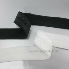 "10Yds 3/4 "" Foldover FOE Elastic Trim black /white m"