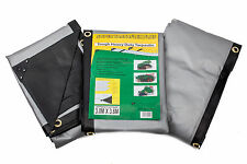 Tarpaulin Sheet 270GSM Heavy Weight Tarp Waterproof Boat Cover Black/Silver