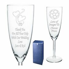 Engraved Champagne Flute Wedding Thank You Gift - Present