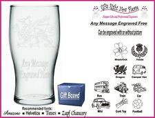 Engraved Pint Glass Personalised Retirement - Leaving Gift - IM1