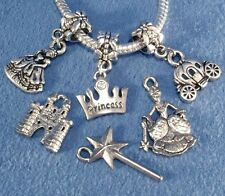 Princess Silver Charms Crown Magic Wand Pumpkin Coach Prince Knight Castle Pick