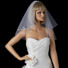 Bridal Wedding Double Layer Veil 111