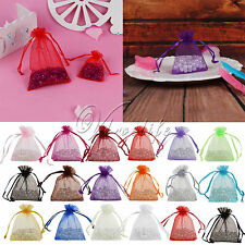 "50PCS 3x3.5"" 7cmx9cm Sheer Organza Wedding Xmas Gift Bag Pouch Favor Colours"