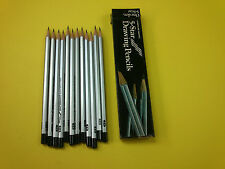 Cumberland Five Star Drawing Pencils British Made 6H, 3H or 3B Pack 12 Quality