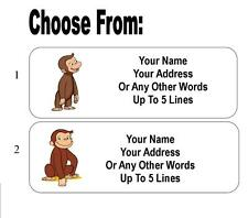 30 Curious George Personalized Address Labels