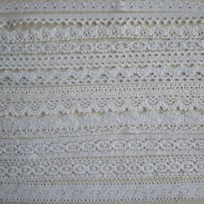 "5 Yard cotton crochet delicate lace trim Wewing Edging 3/8"" 1/2"" 5/8"" 3/4"" 1"" T2"