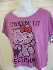 Hello Kitty by Sanrio Comin To Getcha! T Shirt Tee sz S M NWT