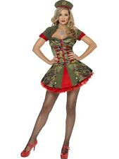 Ladies Sexy Army Military Soldier Uniform Fancy Dress War Costumes UK Sizes 4-22