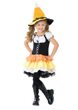 Girls Kandy Korn Candy Corn Witch Dress and Hat Kids Childrens Halloween Costume