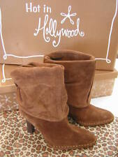 Hot In Hollywood Cognac Slouchy Ankle Boots