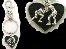 WRESTLING Wrestler Sumo School Heart Key Chain Purse Clip Ring Sport Jewelry
