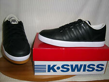 K-Swiss mens low lace up casual / sports trainer Black Leather GOWMET II VNZ