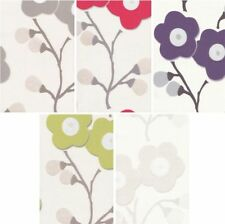 GRANDECO VILLA LUNA LUXURY TEXTURED VINYL BLOSSOM BUDS FLORAL WALLPAPER 10M ROLL
