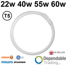 BRANDED 4 PIN CIRCULAR MAGNIFIER LAMP T5 FLUORESCENT TUBE In 22w 40w 55w or 60w
