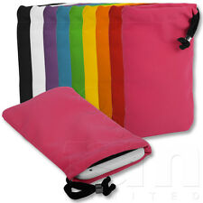 ALL COLOURS SOFT VELVET DRAWSTRING POUCH CARRY CASE COVER FOR HTC MOBILE PHONES