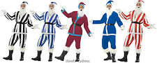 SPORTS SANTA COSTUME SUPPORTER FATHER CHRISTMAS FOOTBALL TEAM COLOUR FANCY DRESS