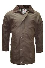 WWK Mens Jacket Brown Wax Quilted Cotton Garment Male Outdoor Clothing New