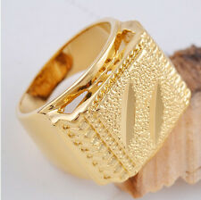 Luxury Men/Women  14K Real GOLD filled solid  Ring fashion Jewelry